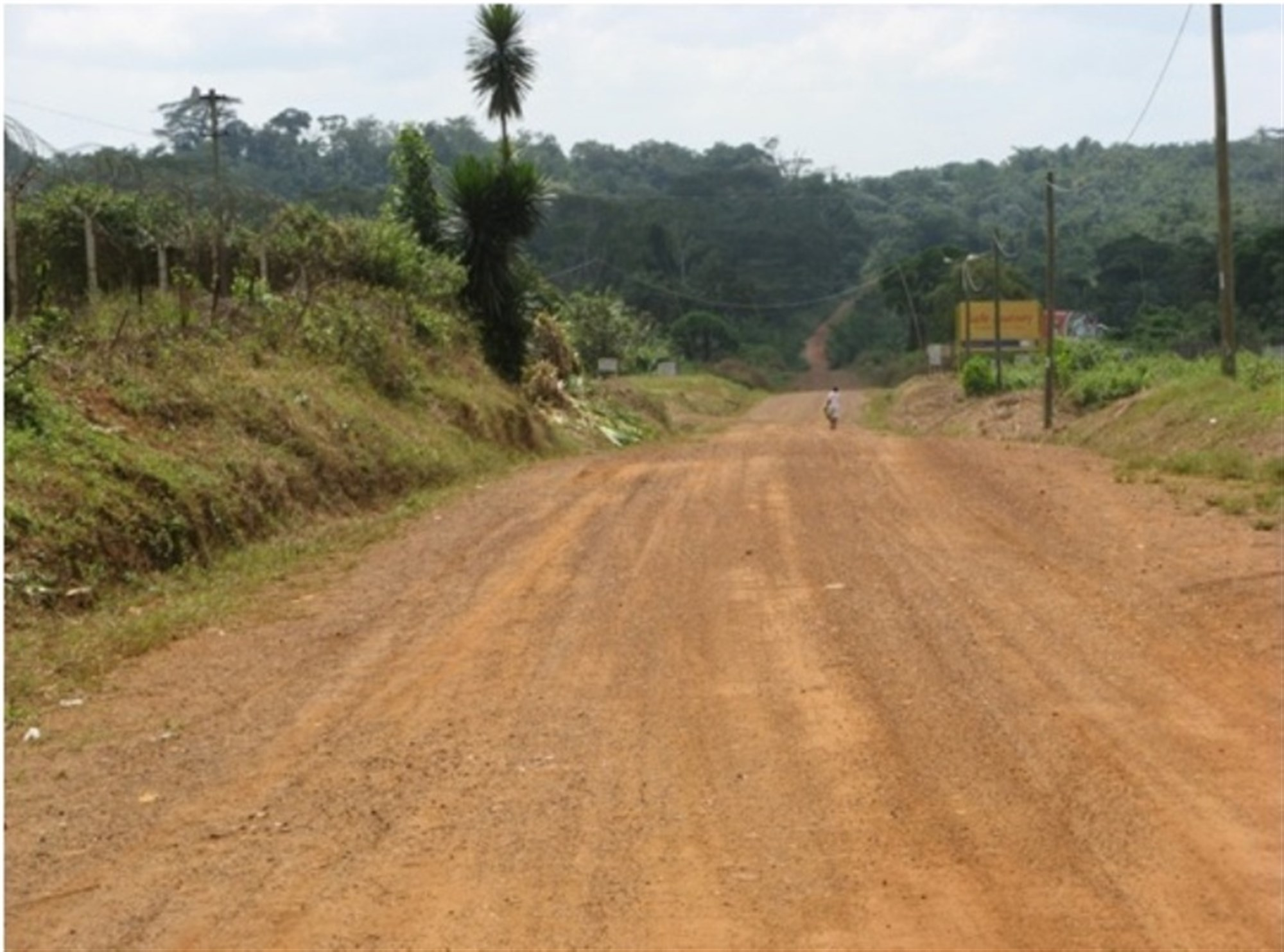 A typical unimproved road in Liberia creates a challenge for logisticians. Deliberate planning and actions across the entire logistics enterprise united the efforts of a multi-disciplined, interagency team formed across nations, governments and non-government organizations (NGOs) which directly led to success in OPERATION United Assistance. (U.S. AFRICOM photo/released)