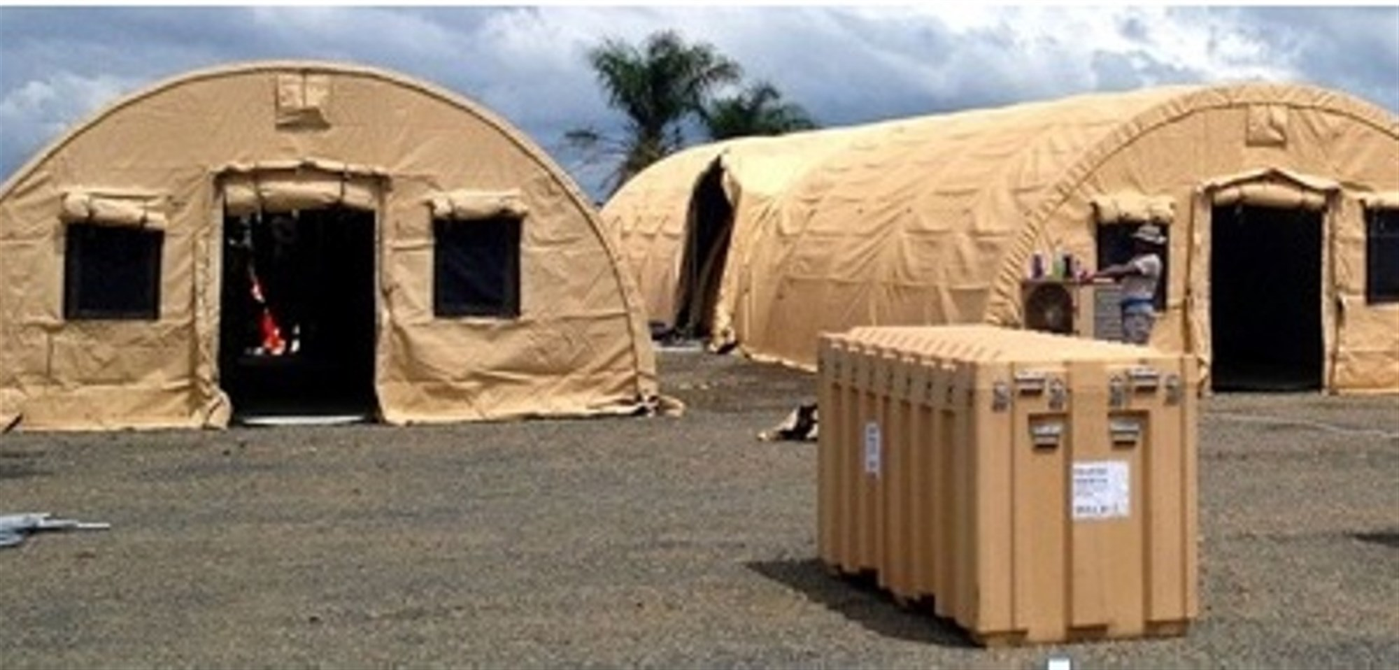 Force Provider equipment used to  support Soldiers in Liberia. Deliberate planning and actions across the entire logistics enterprise united the efforts of a multi-disciplined, interagency team formed across nations, governments and non-government organizations (NGOs) which directly led to success in OPERATION United Assistance. (U.S. AFRICOM photo/released)