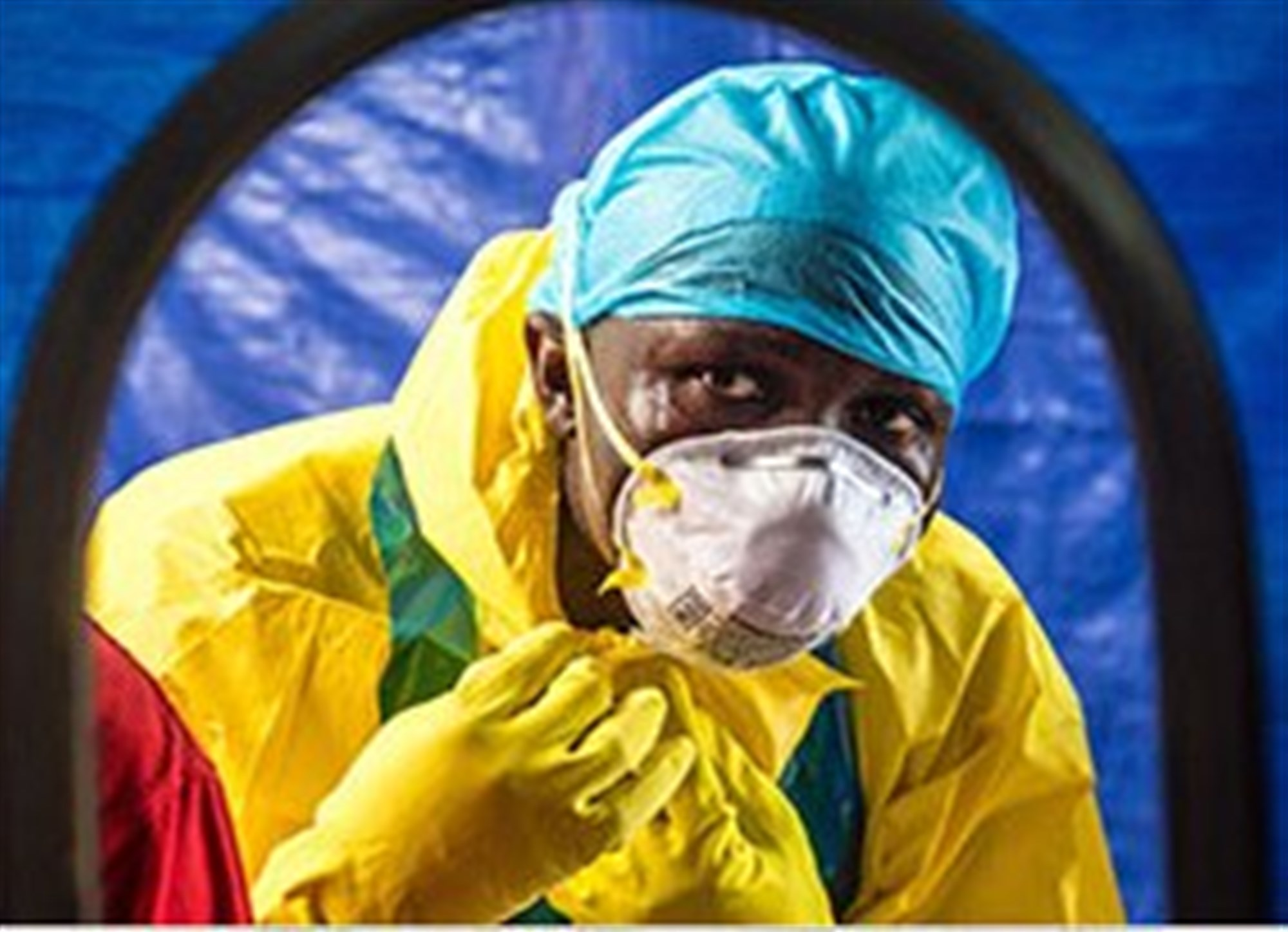 A health worker dons protective gear before entering an Ebola treatment center in Sierra Leone.  Read more: http://iipdigital.usembassy.gov/st/english/article/2015/01/20150120313054.html#ixzz3PRn4N3W9