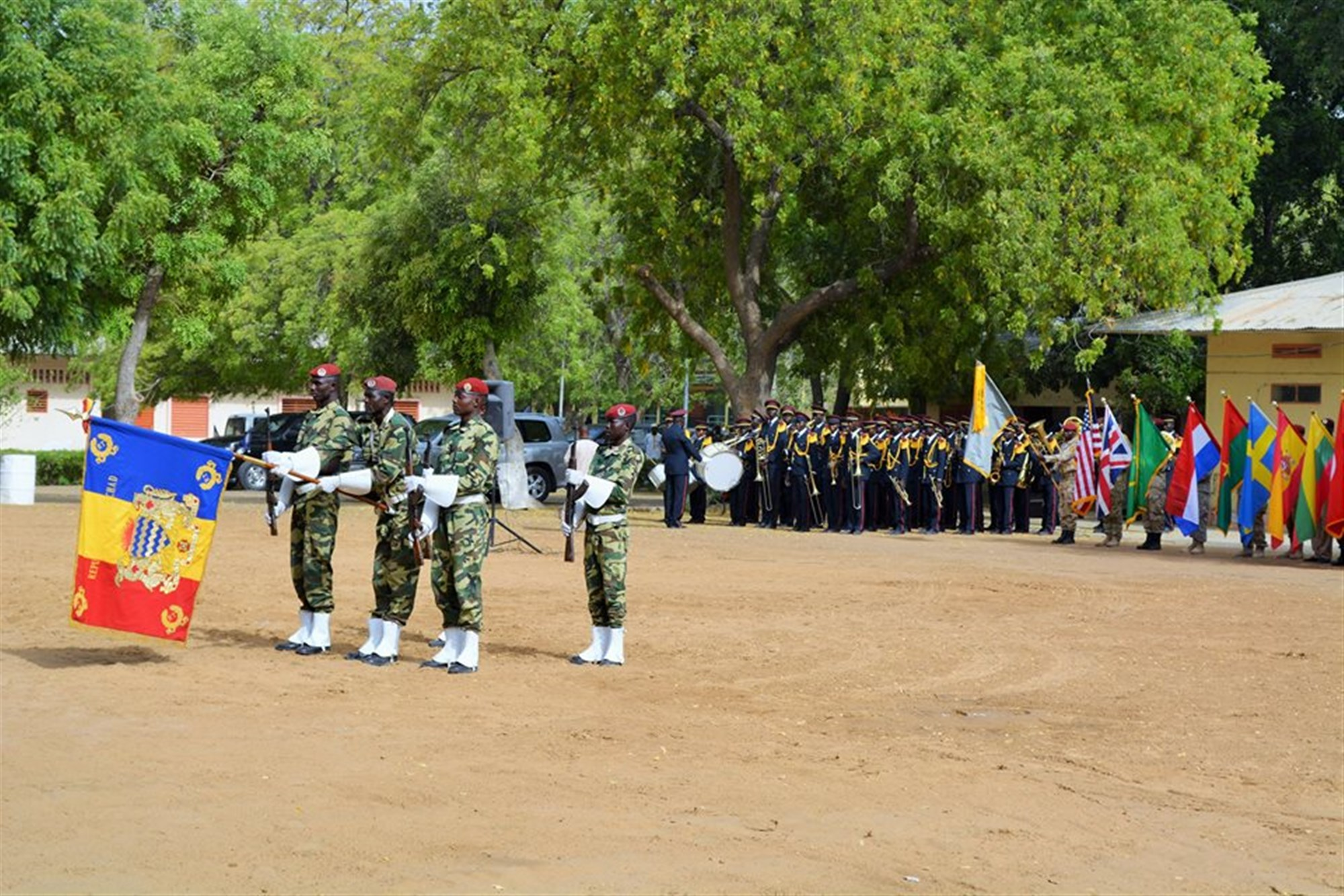 Flintlock 2015 closing ceremony, N'Djamena, Chad. (Photo by U.S. Army Sgt. 1st Class Jessica Espinosa, U.S. Special Operations Command Africa/RELEASED)
