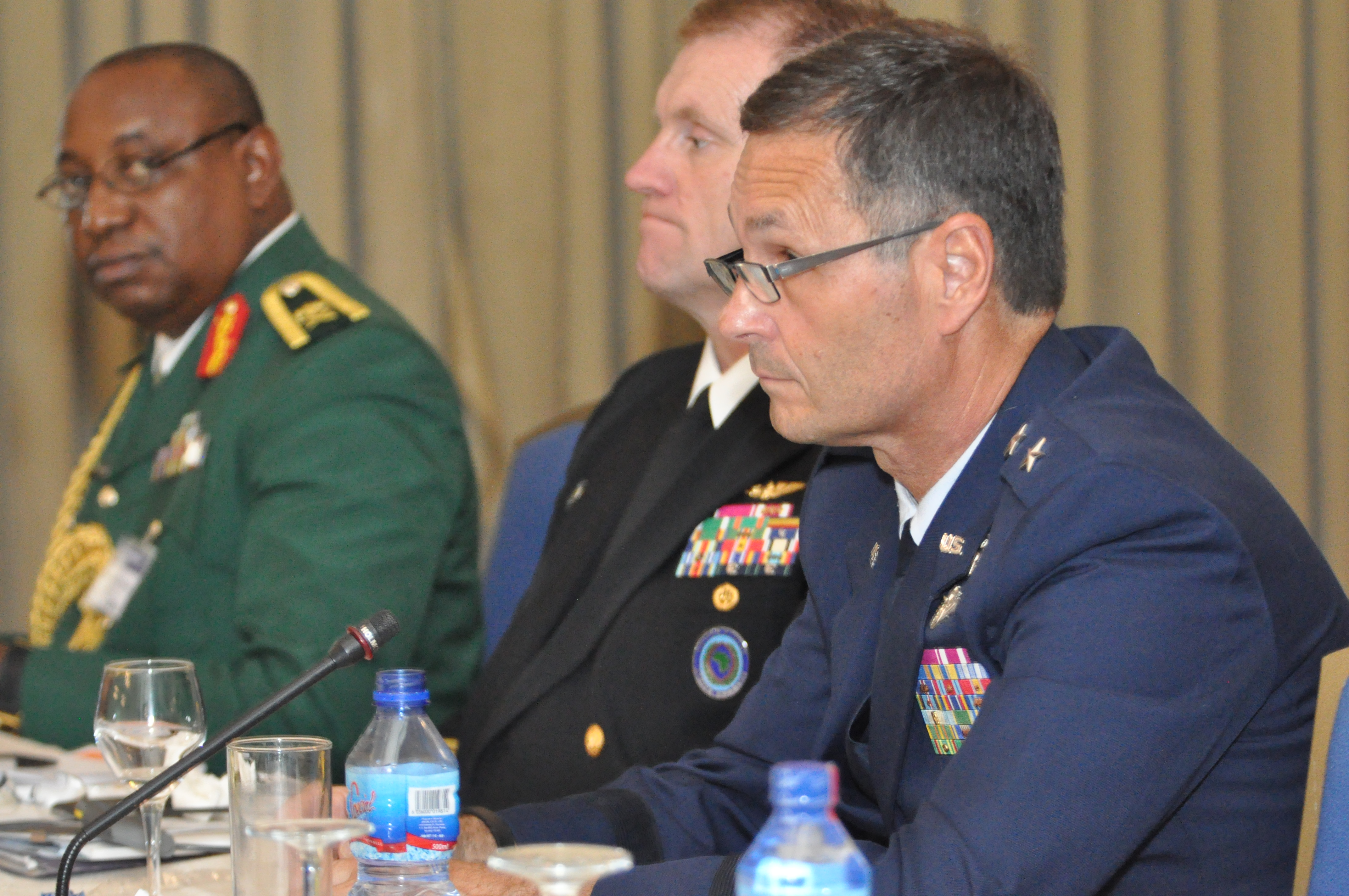 Maj. Gen. Worthe Holt, special advisor to the commander, U.S. Africa Command, delivers opening remarks during the first African Partner Outbreak Response Alliance meeting in Accra, Ghana, April 20, 2015.  Military and civilian doctors and medical practitioners from 12 African nations attended the three-day meeting. (U.S. AFRICOM photo by Tech. Sgt. Olufemi A Owolabi)