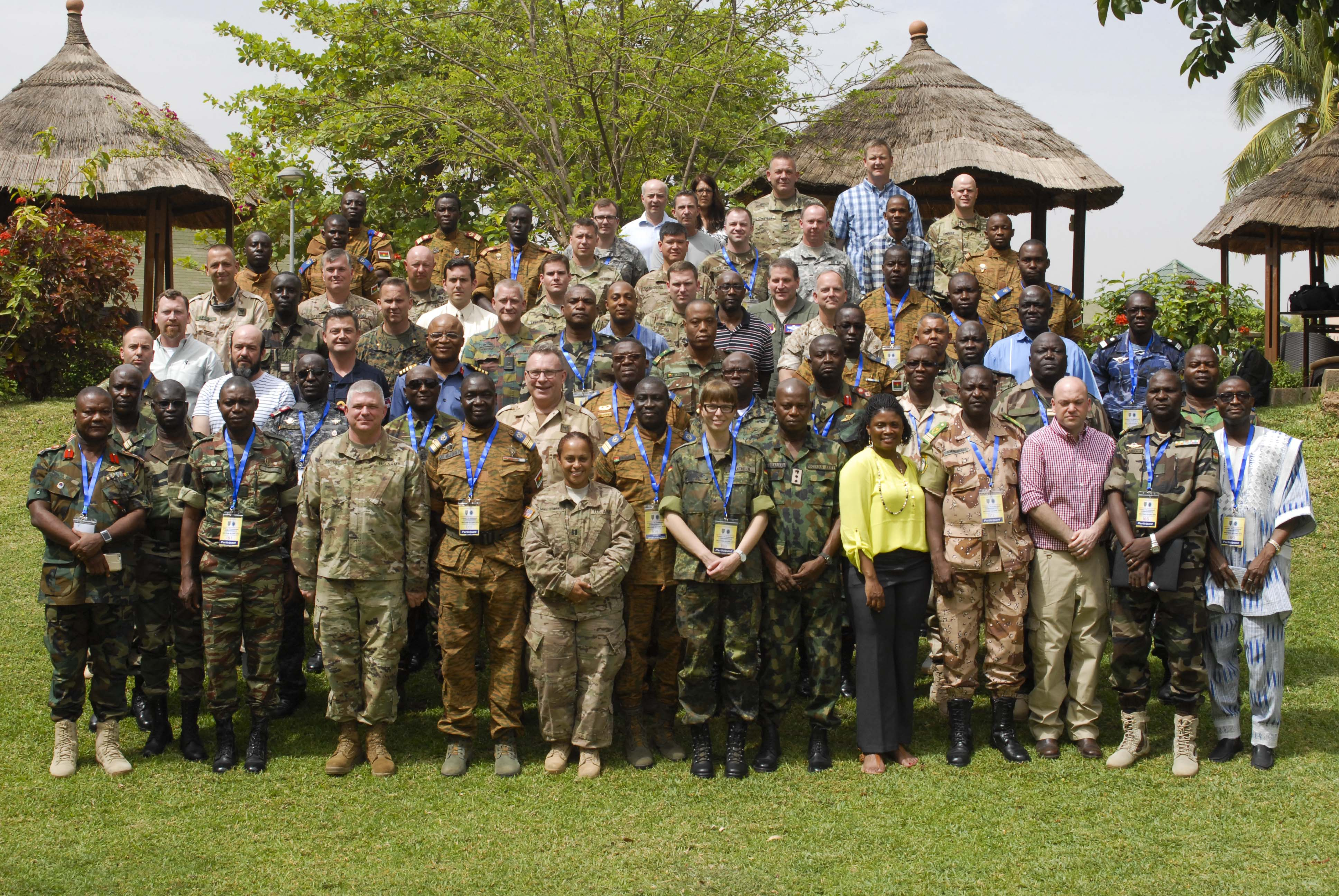 Military Representatives from various African and European countries met for the Western Accord 2016 Final Planning Event in Ouagadougou, Burkina Faso March 21-25, finalized details for the upcoming May exercise. WA 2016 is a two-week exercise with regional African partners and their Western allies designed to strengthen partnerships, enhance capacity and capabilities to conduct joint multinational peacekeeping operations in West Africa. (U.S. Army Africa photo by Sgt. 1st Class Chris Bridson)