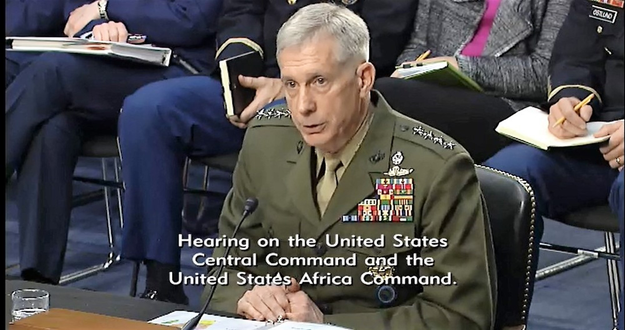 Commander U.S. Africa Command General Thomas Waldhauser provides information to members of the U.S. Senate Committee on Armed Services (SASC) during a hearing held on March 9, 2017 in Washington, DC.  Waldhauser appeared before the committee for an annual session that allows members the opportunity receive updates from commanders and ask questions that inform decisions. During the hearing, Waldhauser submitted U.S. AFRICOM's official annual posture statement and answered questions related to the command's area of responsibility on topics ranging from counter-terrorism initiatives to the influence of other countries upon the African continent. (Courtesy image)