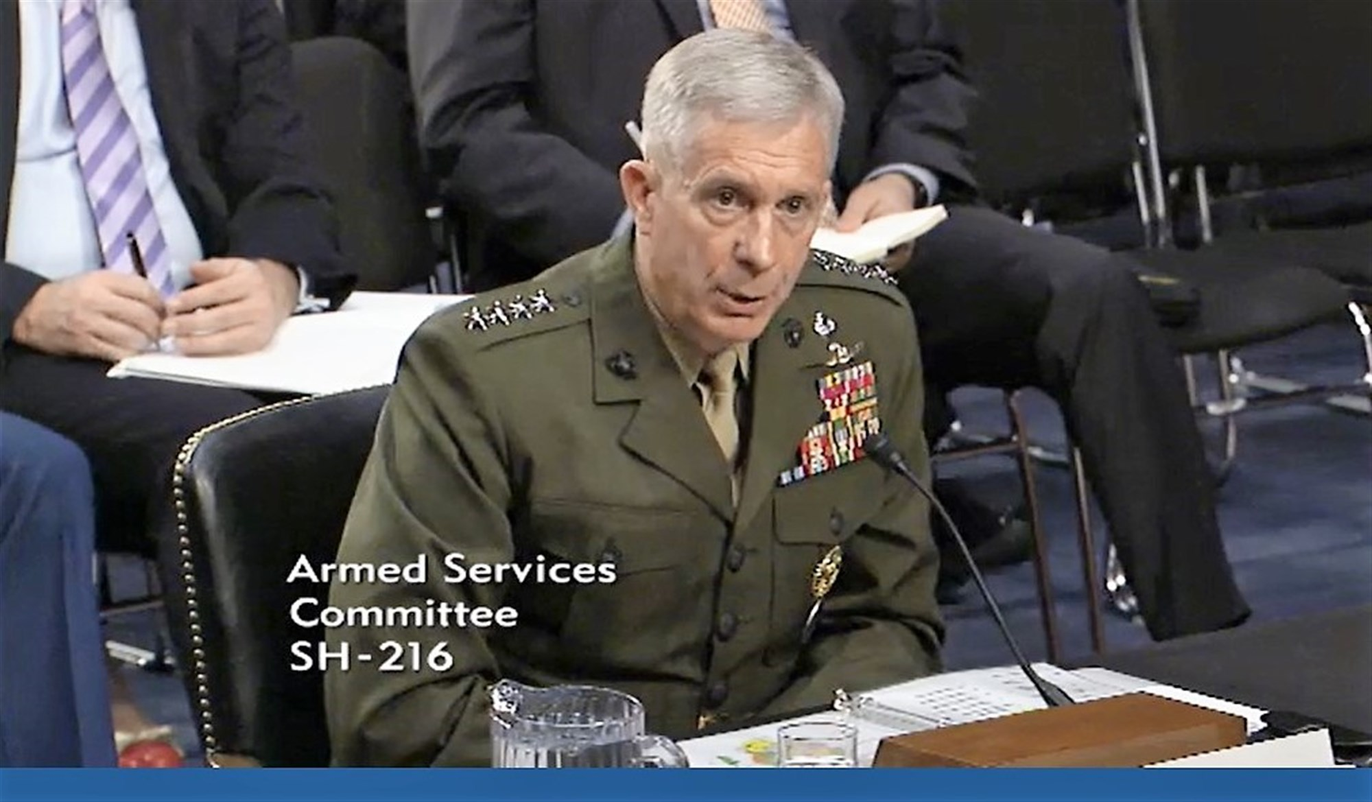 Commander U.S. Africa Command General Thomas Waldhauser provides information to members of the U.S. Senate Committee on Armed Services (SASC) during a hearing held on March 9, 2017 in Washington DC.  Waldhauser appeared before the committee for an annual session that allows members the opportunity receive updates from commanders and ask questions that inform decisions. During the hearing, Waldhauser submitted U.S. AFRICOM's official annual posture statement and answered questions related to the command's area of responsibility on topics ranging from counter-terrorism initiatives to the influence of other countries upon the African continent.  (Courtesy image)
