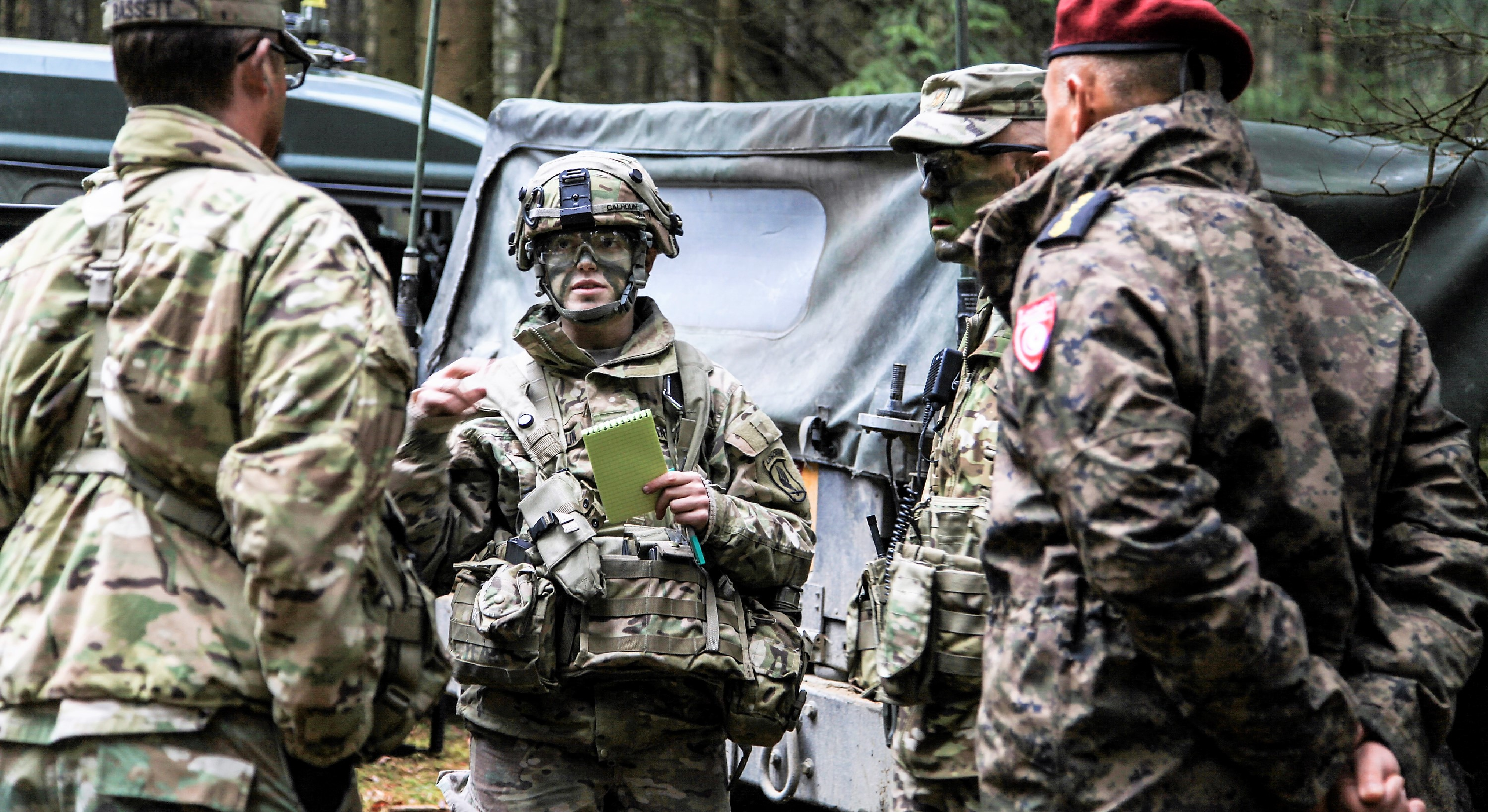 Exercise Allied Spirit VI includes 2,770 participants from NATO and Partner for Peace nations, exercising tactical interoperability and testing secure communications within Alliance members and partner nations. (U.S. Army photo by Sgt. Karen Sampson/ Released)