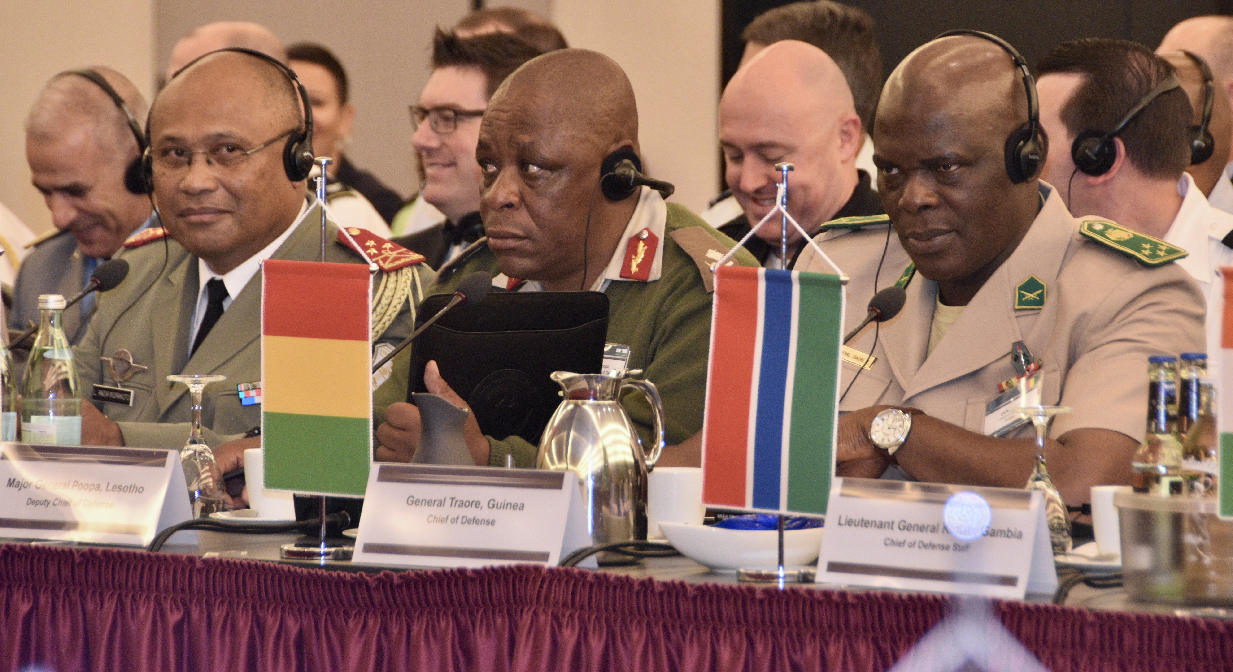 More than 40 African Chiefs of Defense or their representatives participated in the first ever CHoD conference hosted by U.S. Africa Command, April 19-20, 2017, in Stuttgart, GE. Countering VEOs and peace support operations were the central topics for discussion. (Photos by Brenda Law and Staff Sgt. Grady Jones, U.S. AFRICOM Public Affairs/Released)