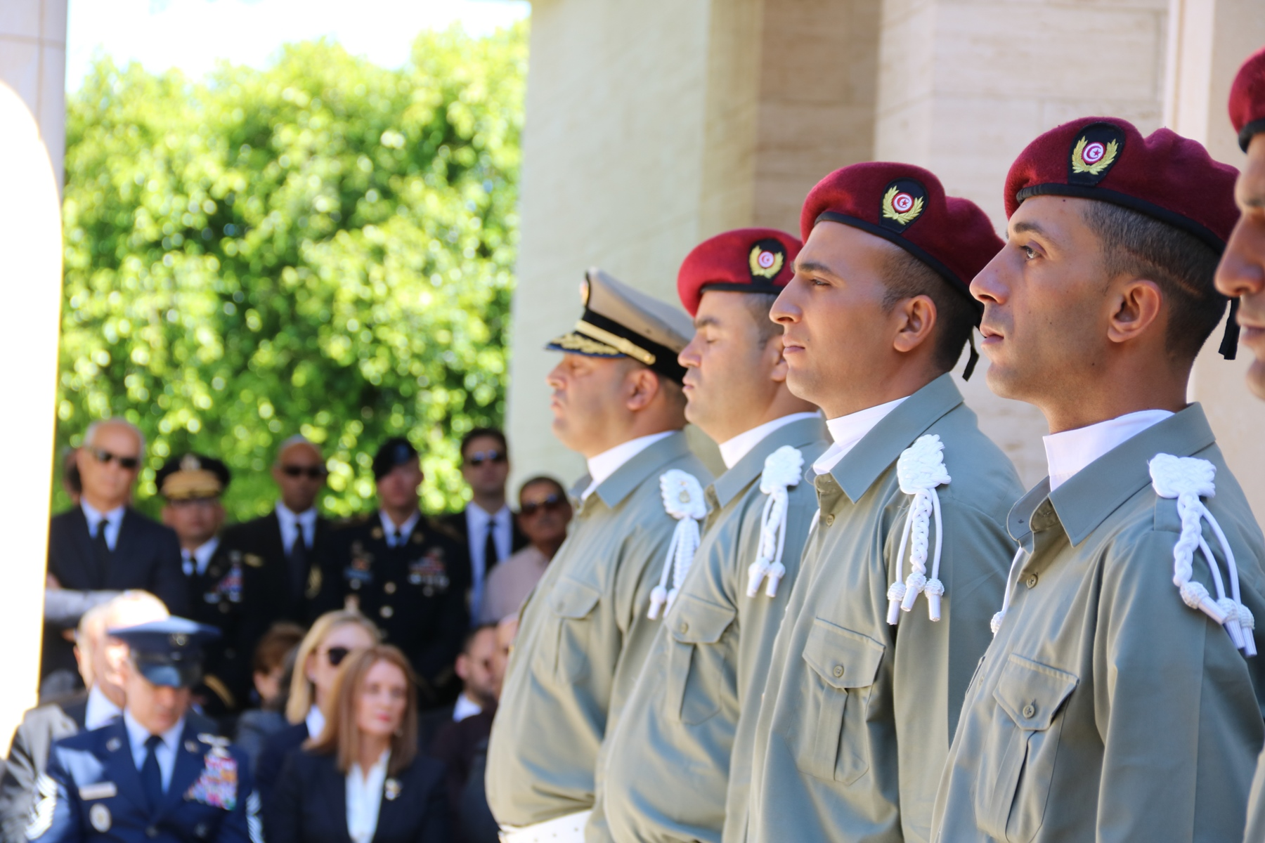 Members of a Tunisian Honor Guard participate in the Memorial Day Ceremony at the North Africa American Cemetery and Memorial in Carthage, Tunisia May 29, 2017. (U.S. Embassy Tunis photo by Zouhair Sfaxi/Released)