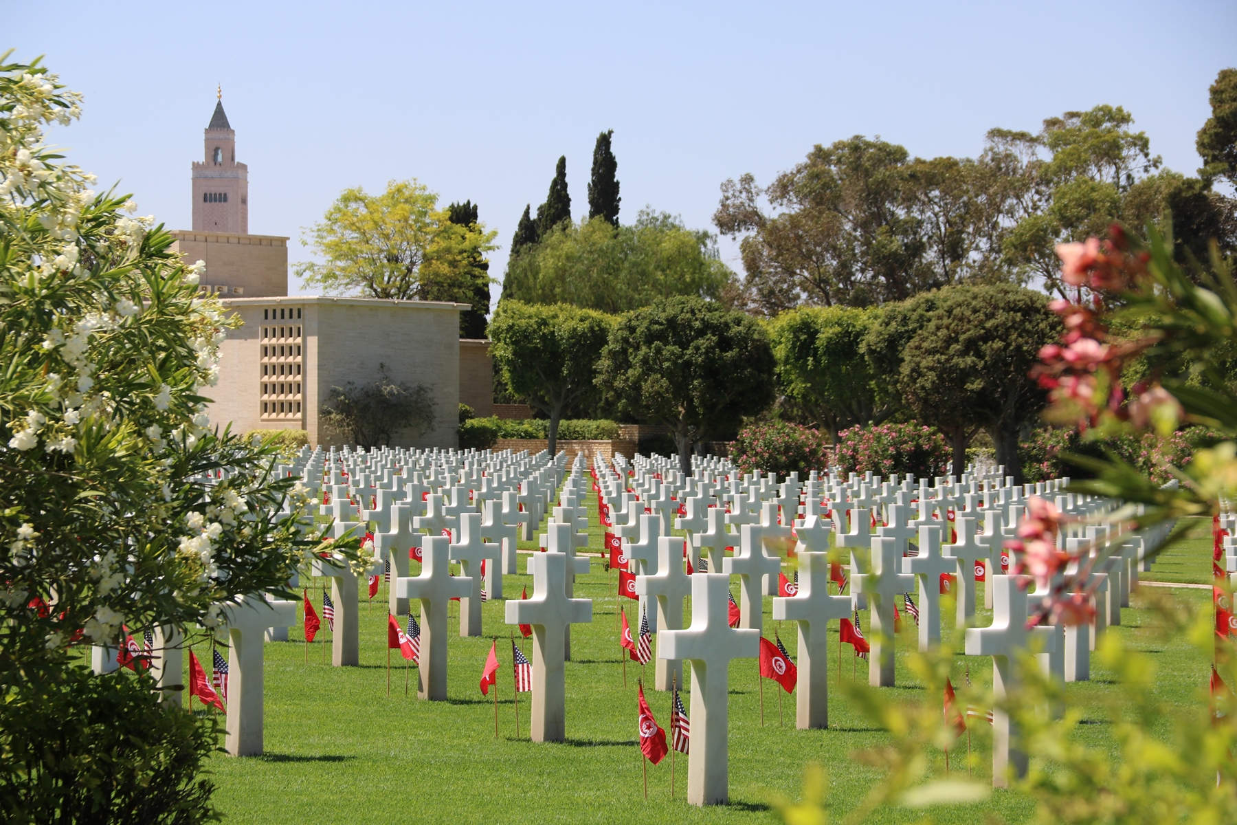 More than 6,500 U.S. service members  are laid to rest or listed as missing in action at the North Africa American Cemetery and Memorial in Carthage, Tunisia. U.S. Africa Command leadership and U.S. Embassy officials participated in a Memorial Day ceremony May 29, 2017. (U.S. Embassy Tunis photo by Zouhair Sfaxi/Released)