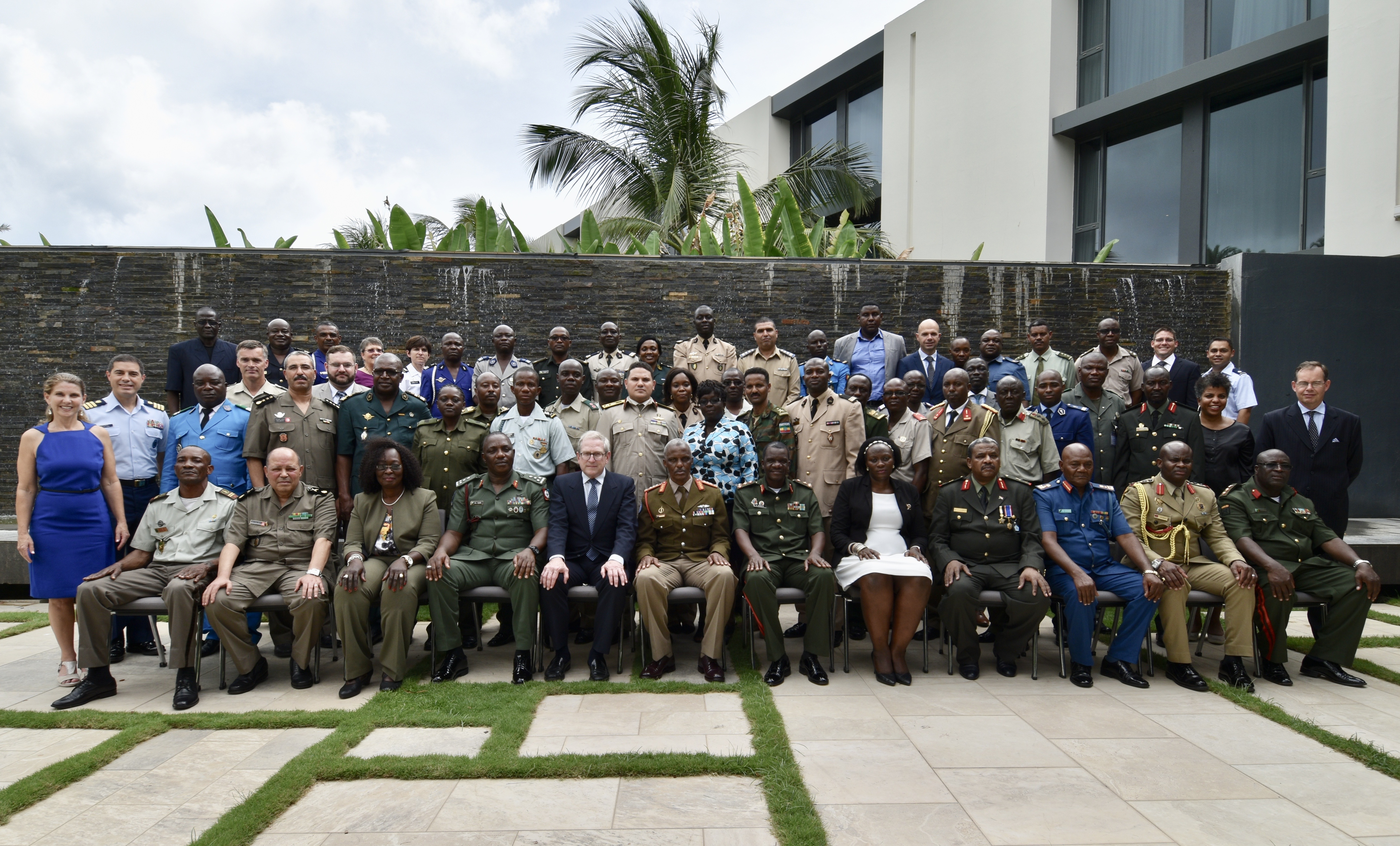 Senegal hosts Accountability Colloquium, the first to be conducted in Africa.  Nearly 50 military and civilian legal professionals and troop commanders from 24 African countries participated in the event in Senegal, Aug. 22-24, 2017, which was coordinated by U.S. AFRICOM in cooperation with the International Institute of Humanitarian Law. Senegal volunteered to host this year's colloquium and participants were welcomed by Contre-amiral Momar Diagne, head of the Senegalese Navy. This was the fifth such event sponsored by U.S. AFRICOM's Office of Legal Counsel, Legal Engagements Division. This year, AC V continued the effort to address the challenge of establishing the rule of law by expanding the discussion from AC IV to include identifying responsibilities and best practices of commanders and legal advisors in preventing and responding to SEA in peace operations. (Photo by Brenda Law, U.S. AFRICOM Public Affairs/RELEASED)