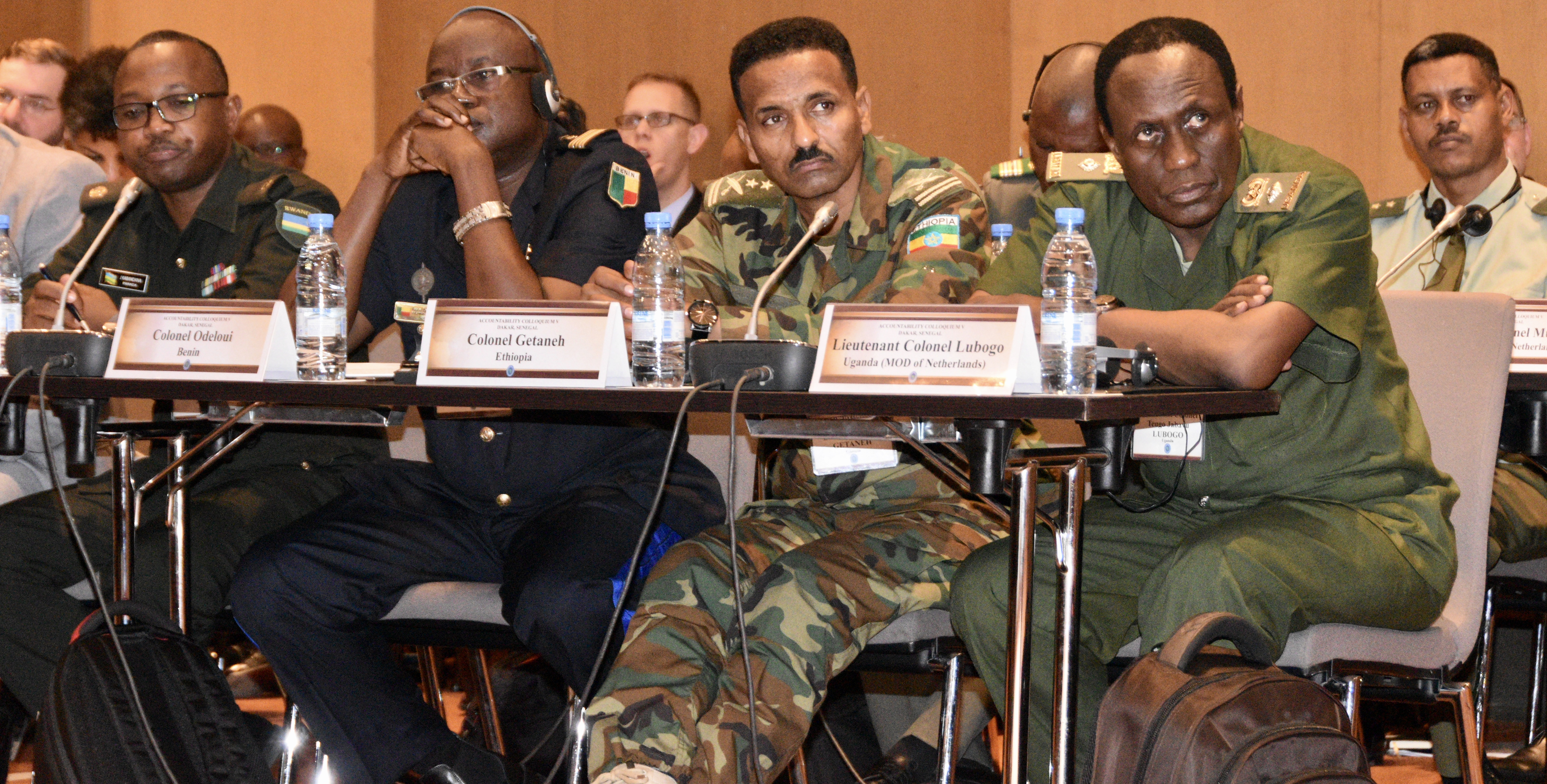 U.S. AFRICOM conducts the Fifth Accountability Colloquium, the first to be conducted in Africa.  Nearly 50 military and civilian legal professionals and troop commanders from 24 African countries participated in the event in Senegal, Aug. 22-24, 2017, which was coordinated by U.S. AFRICOM in cooperation with the International Institute of Humanitarian Law. Senegal volunteered to host this year's colloquium and participants were welcomed by Contre-amiral Momar Diagne, head of the Senegalese Navy. This was the fifth such event sponsored by U.S. AFRICOM's Office of Legal Counsel, Legal Engagements Division. This year, AC V continued the effort to address the challenge of establishing the rule of law by expanding the discussion from AC IV to include identifying responsibilities and best practices of commanders and legal advisors in preventing and responding to SEA in peace operations. (Photo by Brenda Law, U.S. AFRICOM Public Affairs/RELEASED)