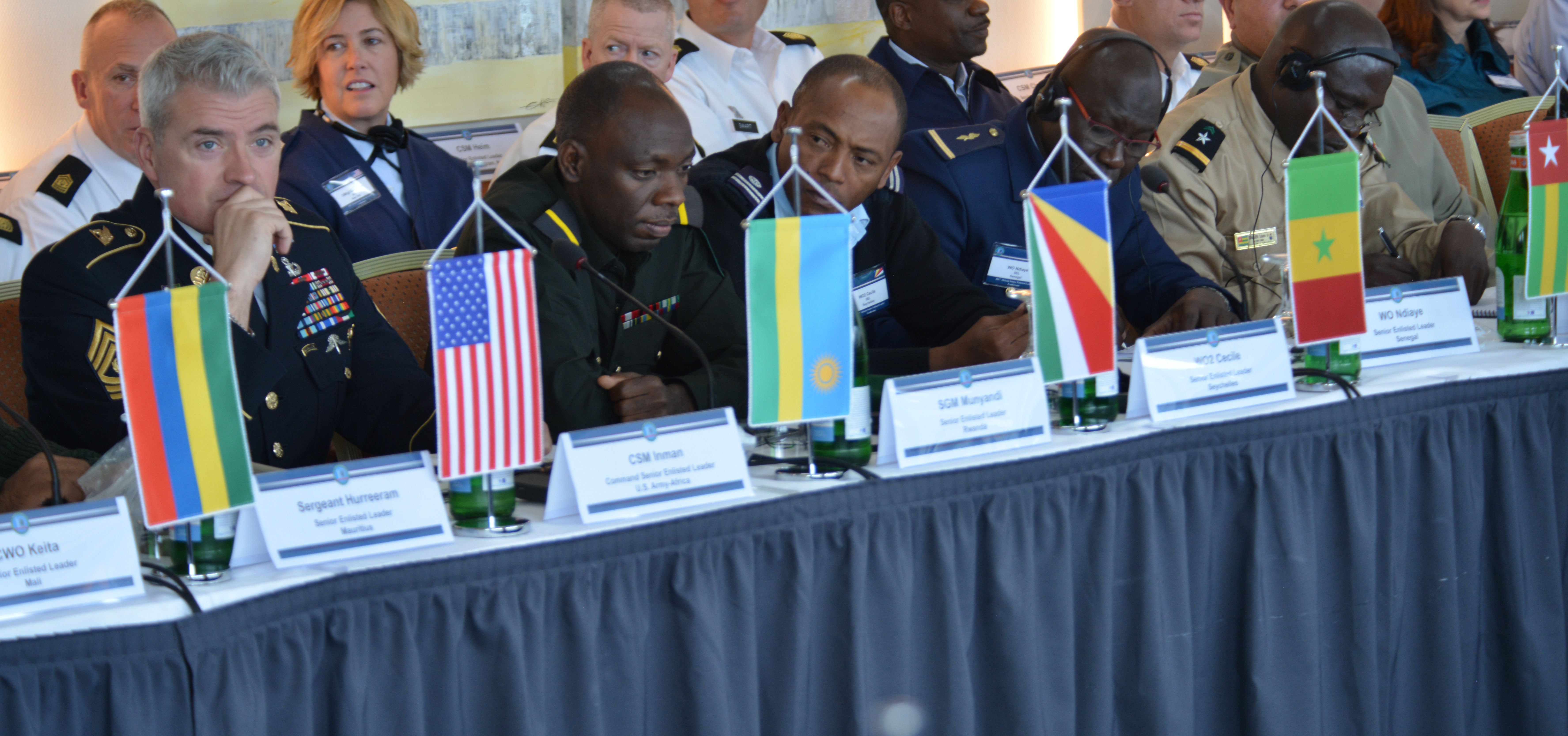 GRAINAU, Germany - U.S. and African Partners participate in the first ever U.S. Africa Command hosted Africa Senior Enlisted Leader Conference, at in Grainau, Germany Nov. 6-10. The conference brought together Senior Enlisted Leaders from more than 20 African nations and the U.S. to discuss shared challenges and opportunities.