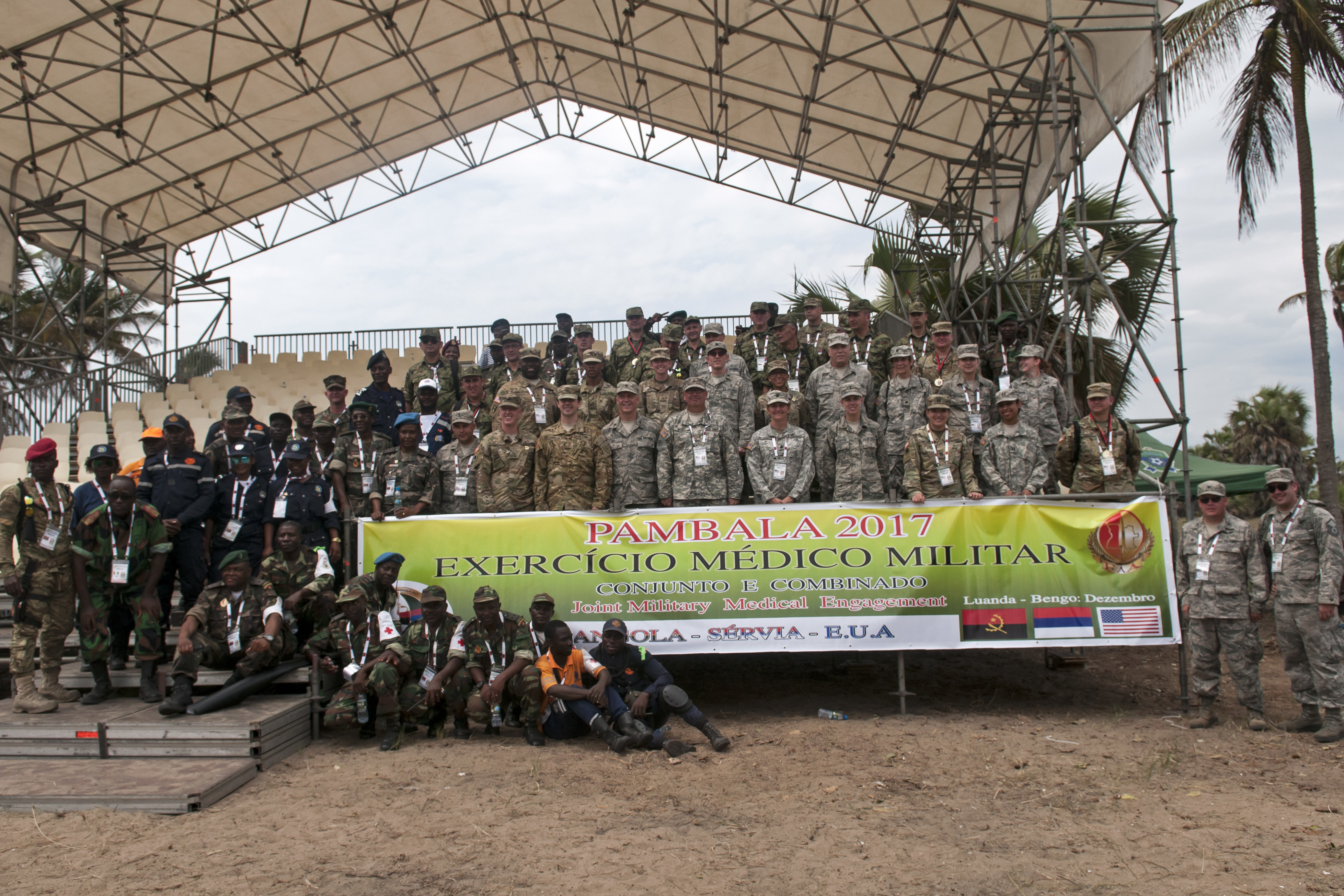 PAMBALA 2017, which took place Dec. 4-15, 2017, in the Republic of Angola, was a two-phase combined medical engagement and marked the first time the U.S. was invited to participate in the exercise, through a trilateral agreement between the Angolan Armed Forces, Serbian Armed Forces and Ohio National Guard. The first-of-its-kind engagement provided mutually beneficial training and experience to Angola, Serbia and the ONG and helped to forge some lasting friendships. (Ohio National Guard photo by Staff Sgt. Wendy Kuhn)