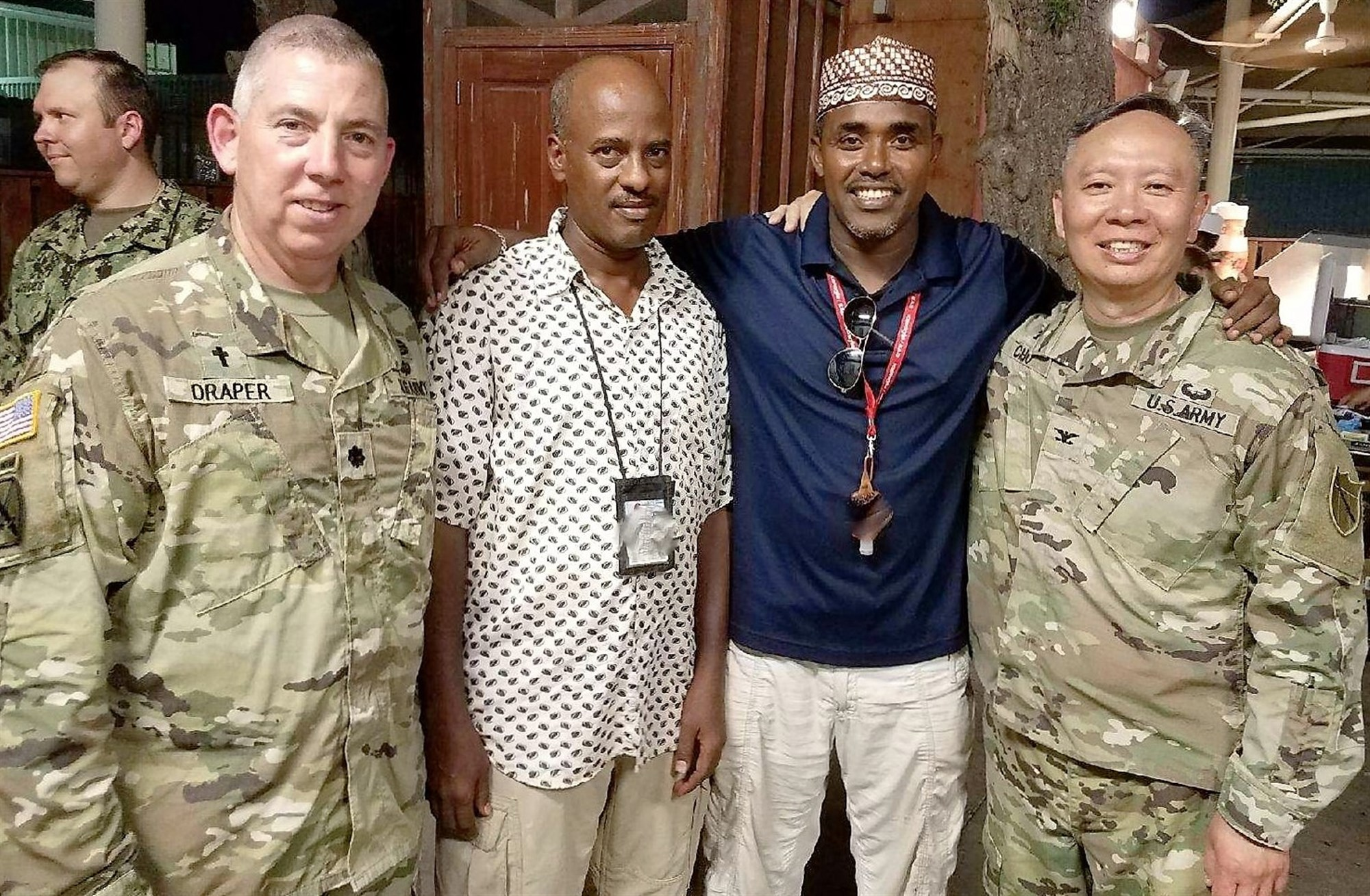 CAMP LEMONNIER, Djibouti – As part of the State Partnership Program (SPP), Kentucky National Guard Chaplain Col. Yong K. Cho, state command chaplain and Chaplain Lt. Col. Bill Draper, senior state support chaplain, visited Djibouti, Africa, in May during Ramadan.