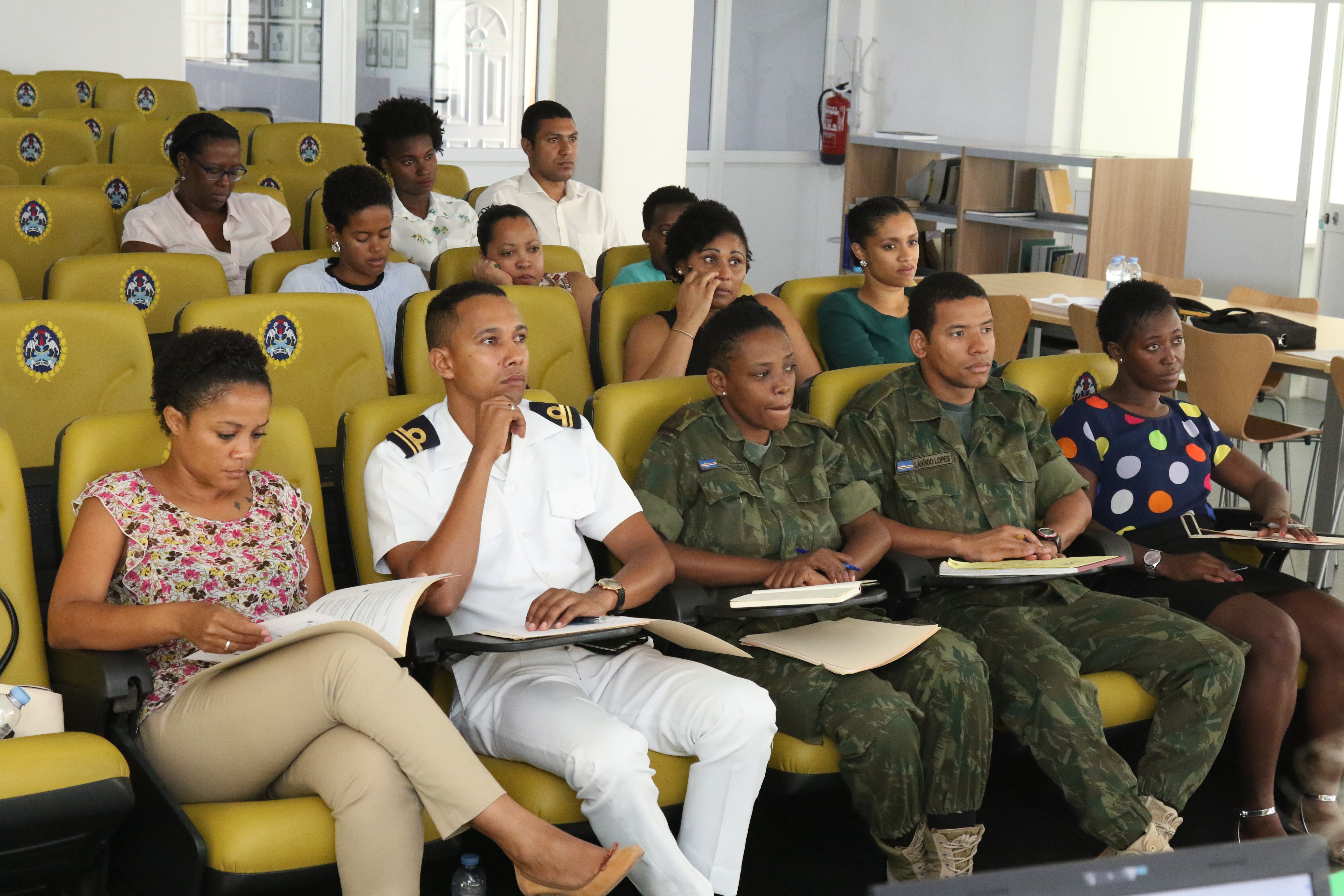 PRAIA, Cabo Verde – Cabo Verdean and government public affairs officers participate in a public affairs information exchange in Praia, Cabo Verde June 28, 2018