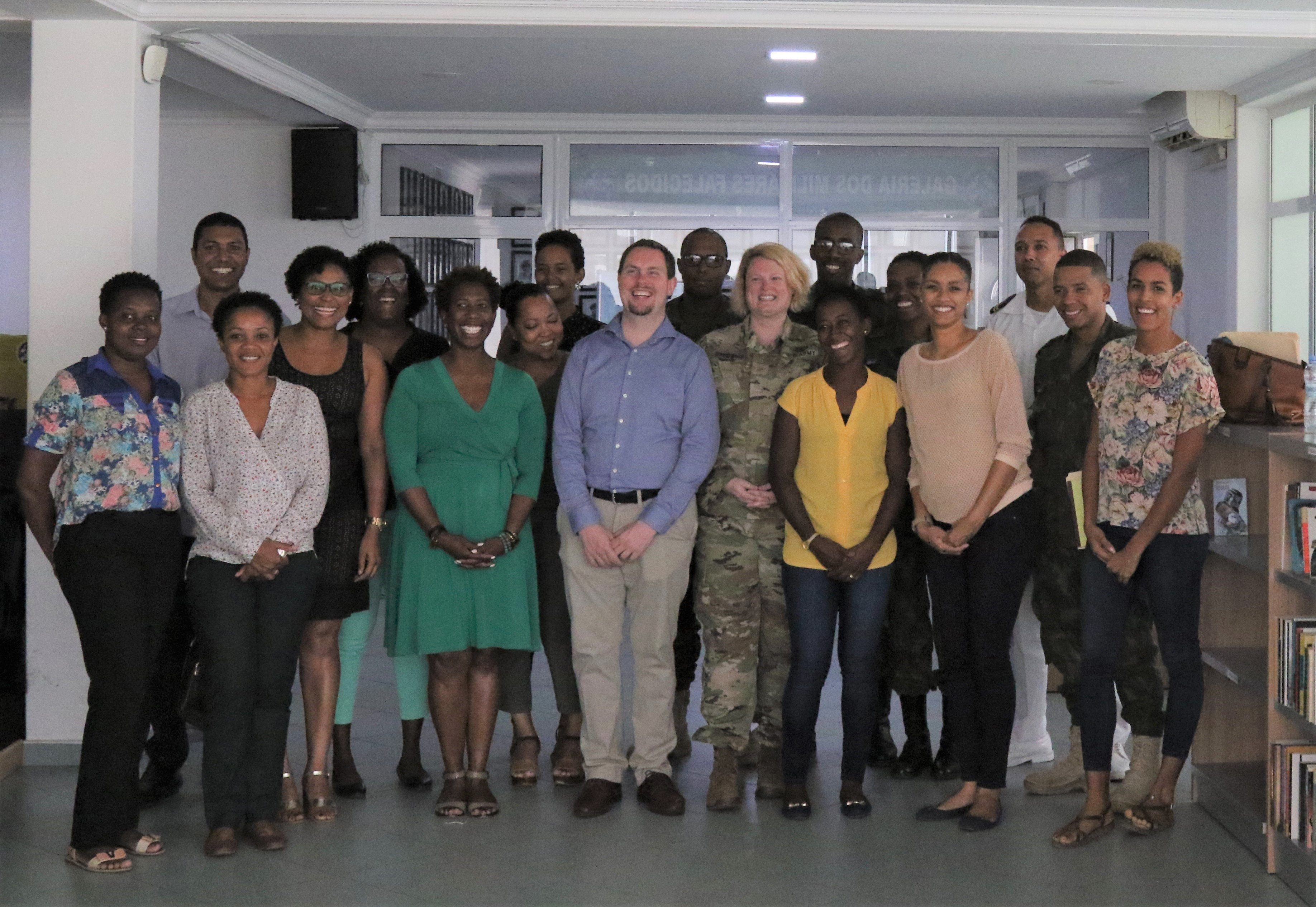 PRAIA, Cabo Verde – Participants pose for a group photo during the public affairs information exchange held in Praia, Cabo Verde June 25-29, 2018.