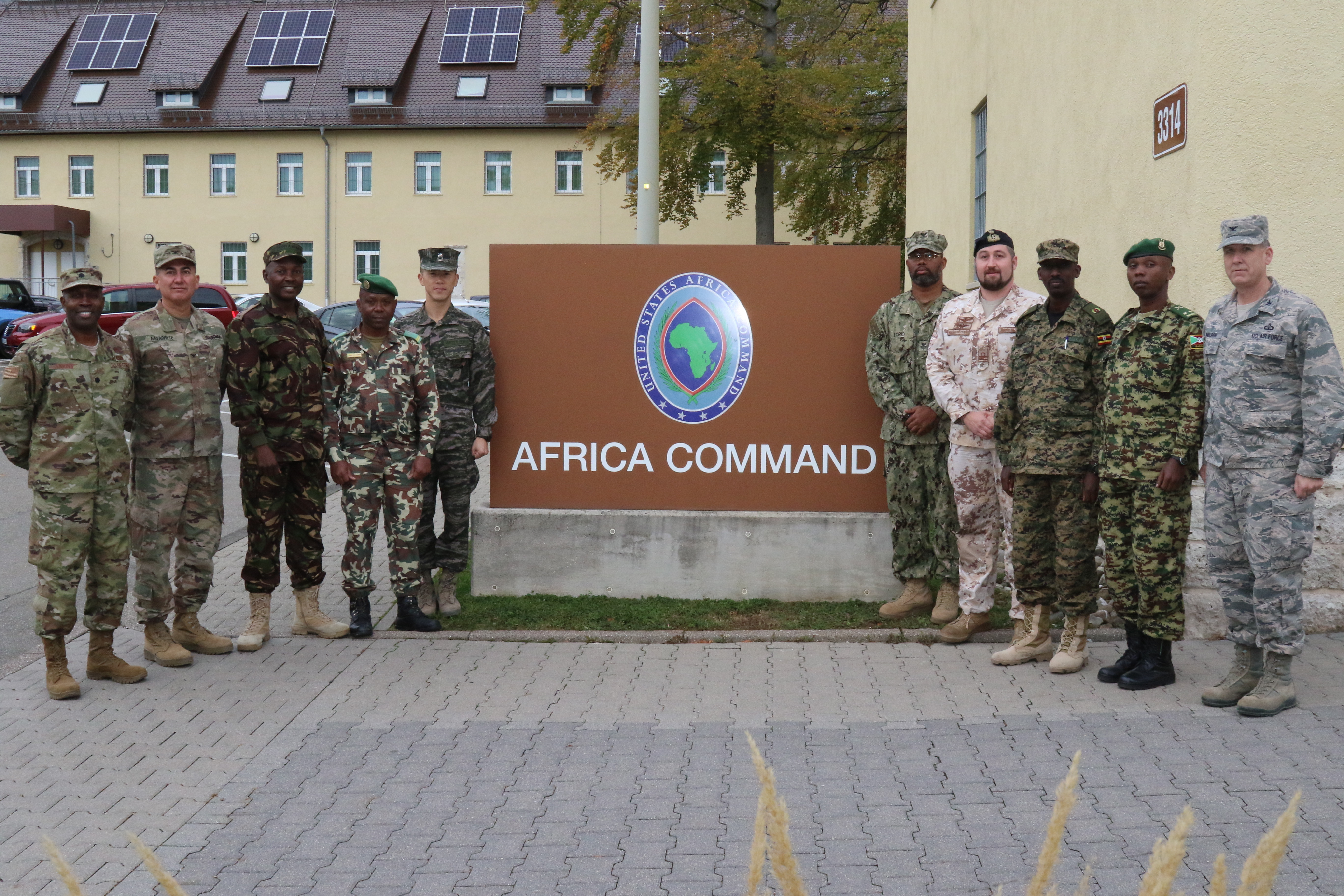 Foreign liaison officers assigned to Combined Joint Task Force - Horn of Africa visited U.S. Africa Command headquarters in Stuttgart, Germany Oct. 30-31, 2018. During the visit, they met with AFRICOM staff and received briefings about the command.