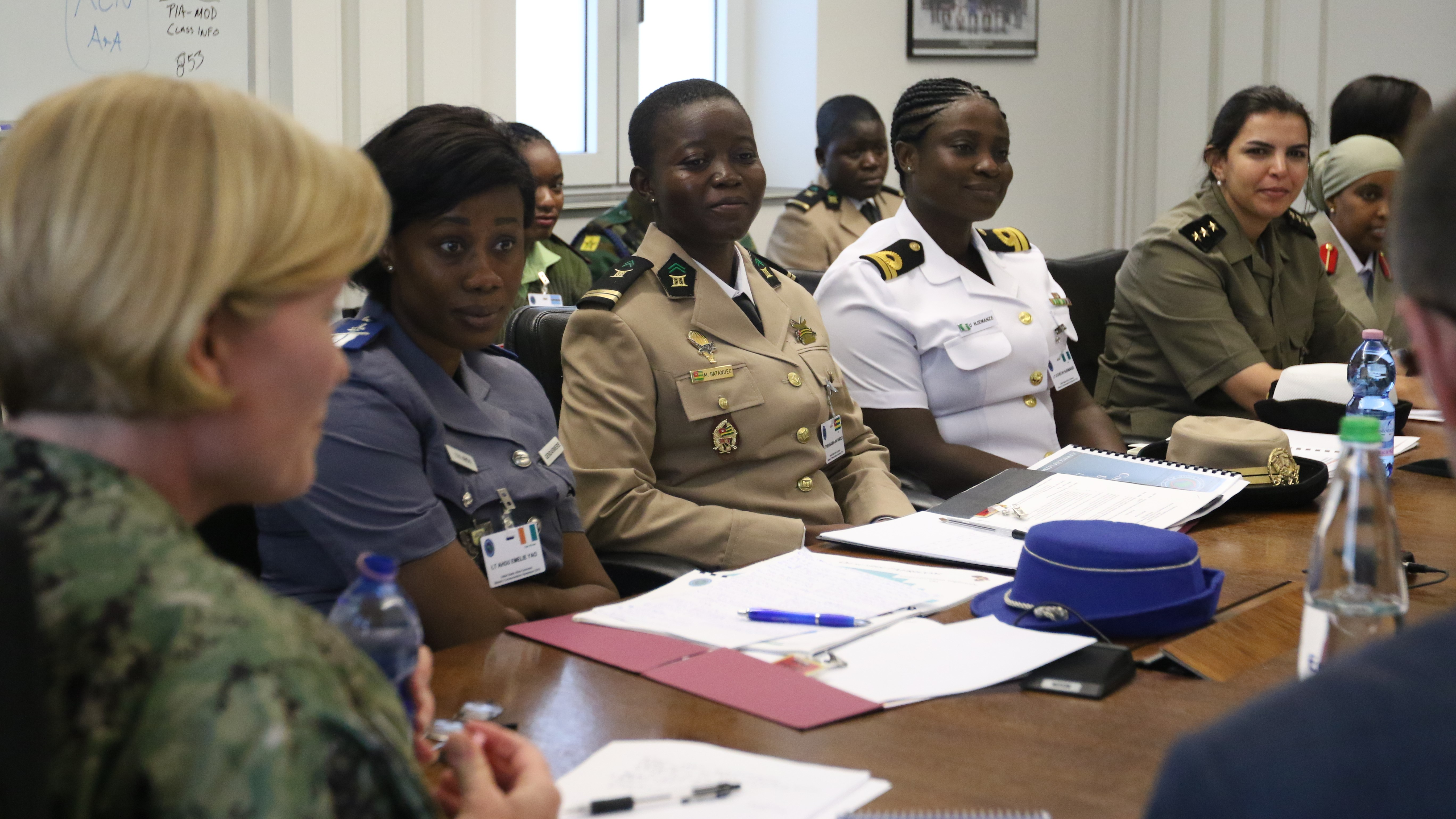 African partner representatives attend the U.S. Africa Command  Women's Communications Symposium for women who are in the African military forces, July 29-August 2, 2019, between Kelley Barracks and Patch Barracks, Stuttgart Germany.