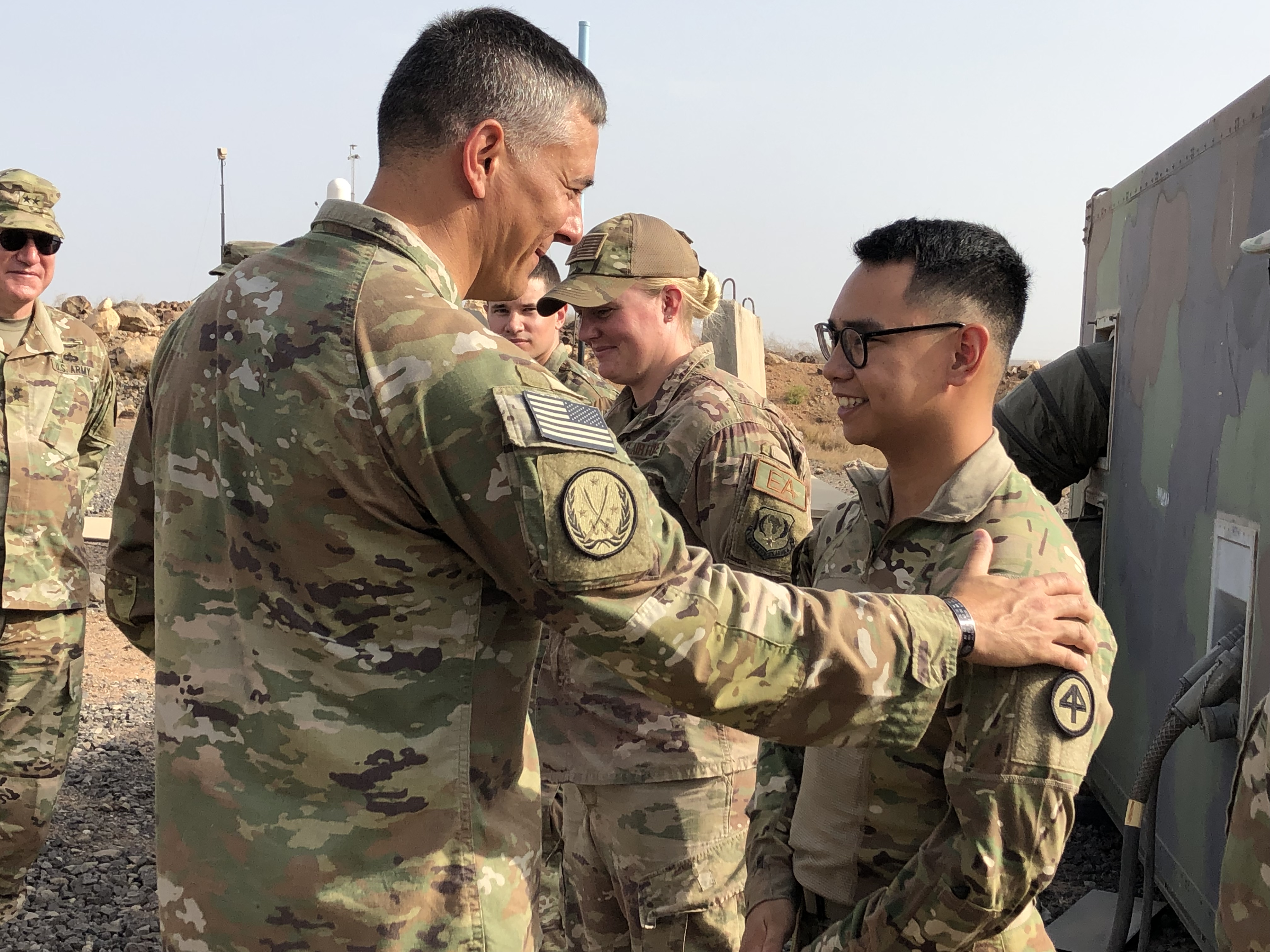 U.S. Army Gen. Stephen Townsend visited with service members assigned to Combined Joint Task Force - Horn of Africa at Camp Lemonnier, Djibouti Aug. 7, 2019. Townsend discussed the importance of engagements and training in East Africa and the impact U.S. service members are having on security in the region.