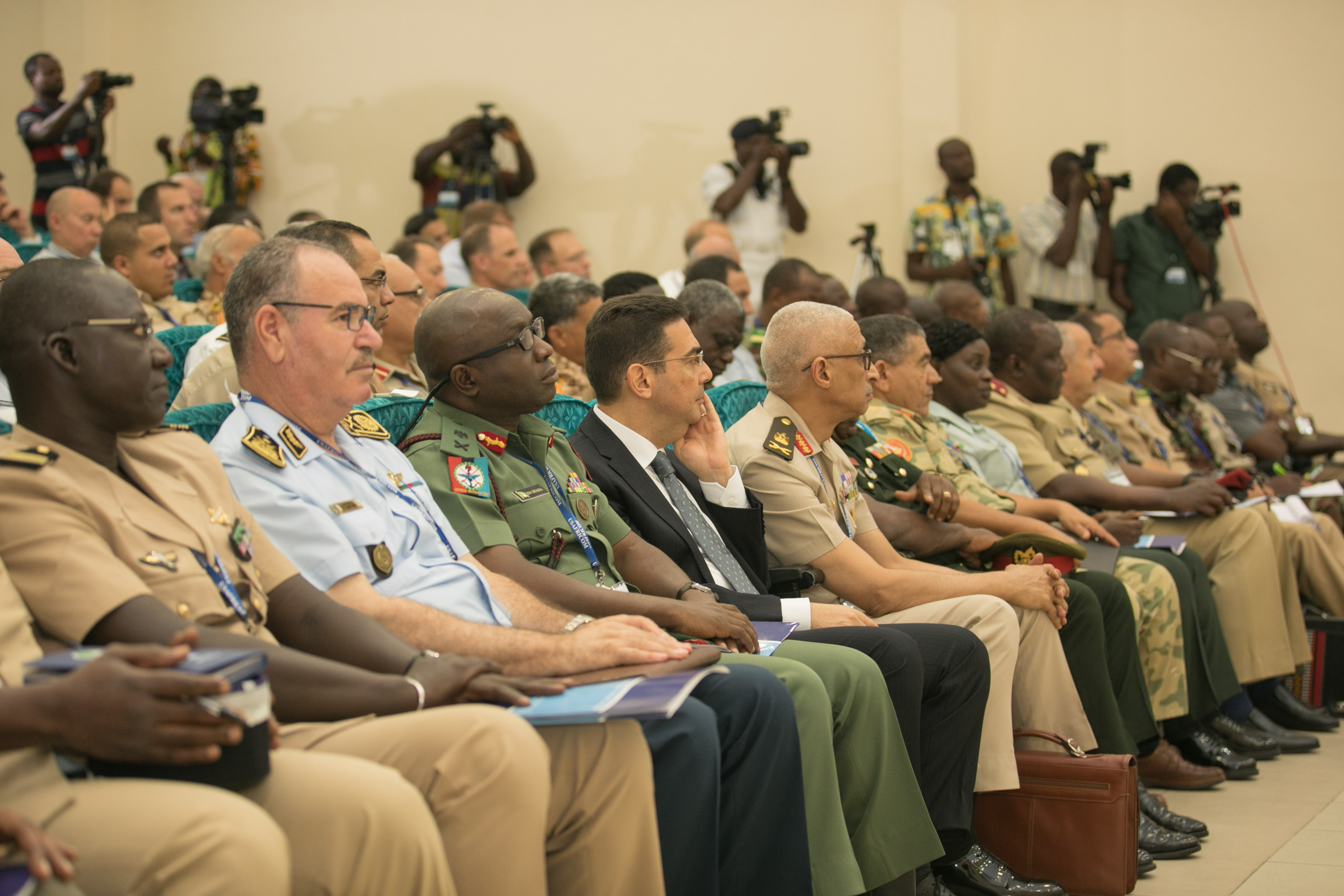 Opening Ceremony of the North and West Africa Directors of Military Intelligence Conference held on September 18, 2019 at the Kofi Annan International Peacekeeping Training Center. (Courtesy photo by Courage Ahiati)