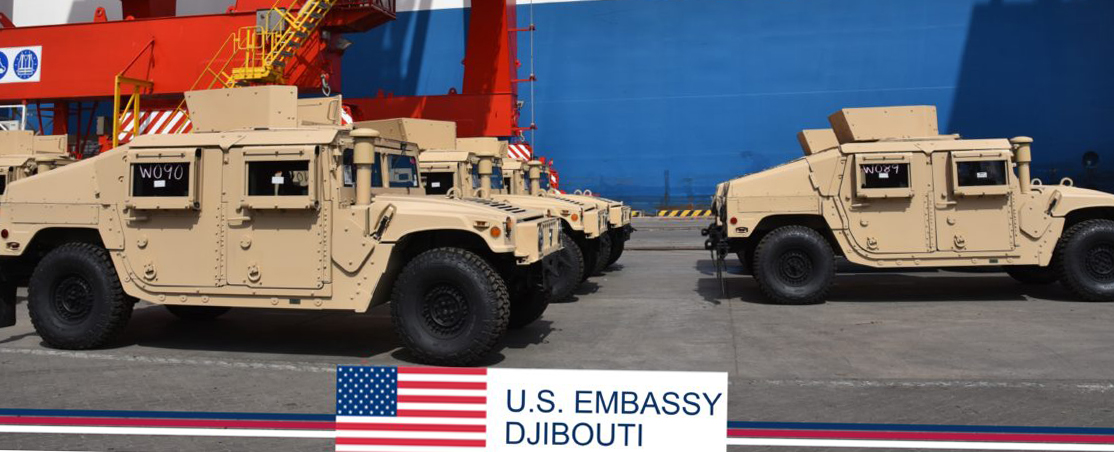 The U.S. has supplied a shipment of 54 new Humvees to Djibouti this week, as part of a $31 million train-and-equip partnership between the U.S. government and the Djiboutian military. The Armed Forces of Djibouti will receive the military vehicles for use by its Rapid Intervention Battalion to allow for a better response to regional requirements and better protection to the country.