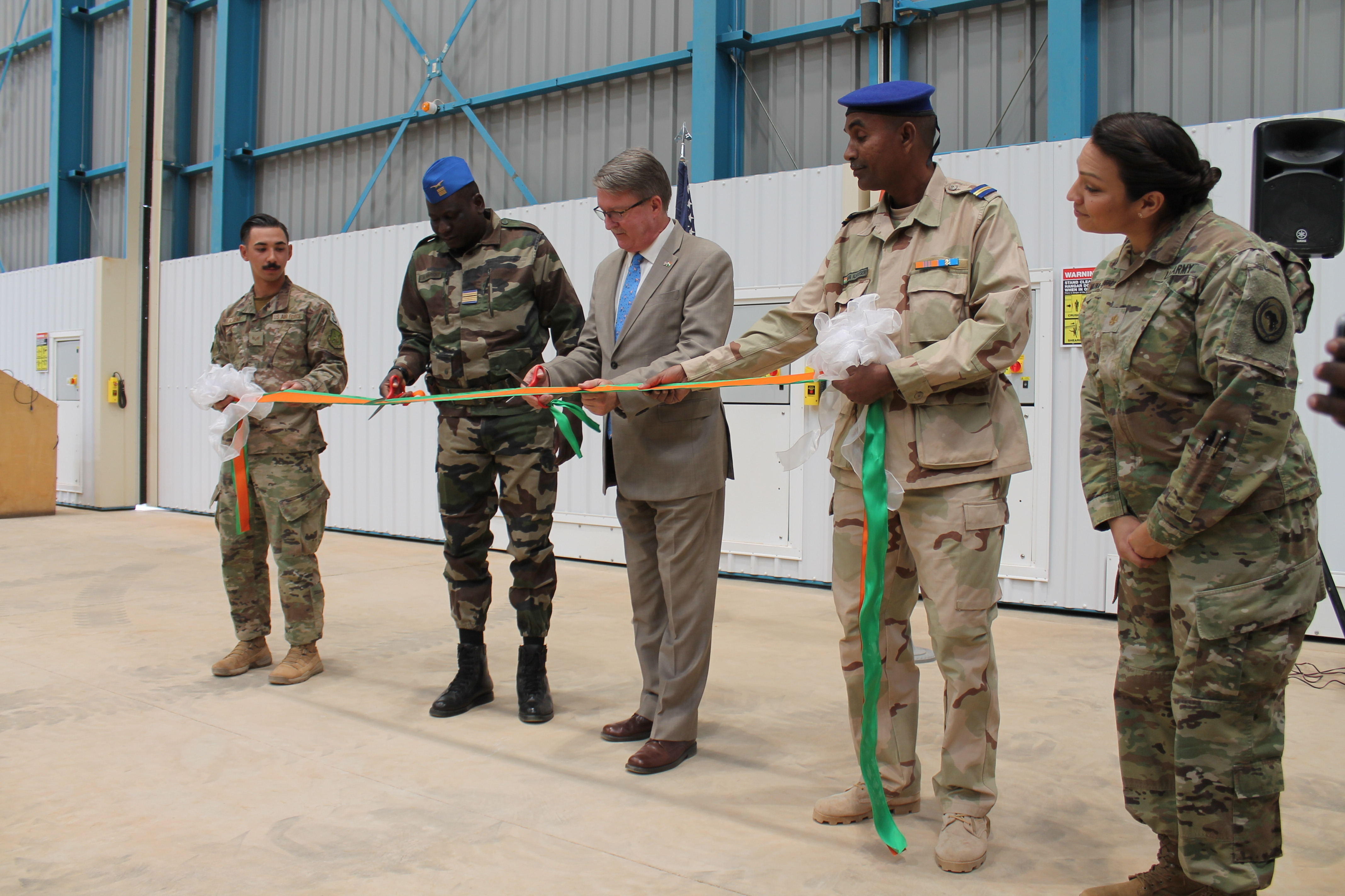 U.S. Army Gen. Stephen J. Townsend, commander, U.S. Africa Command, addresses force U.S. military service members at Camp Simba, Kenya, Feb. 12, 2020. Townsend's command visit was to personally assess the security situation at the Kenyan Defense Force installation at Manda Bay, Kenya and to thank the U.S. military personnel for their service and highlighted the value of their work alongside our Kenyan partners. (U.S. Air Force photo by Tech. Sgt. Christopher Ruano)
